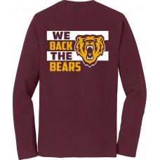 Back the Bears  - Long Sleeve Soft Cotton Tee